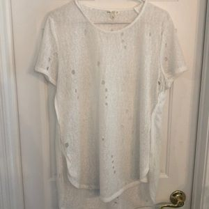 nordstrom distressed white tee